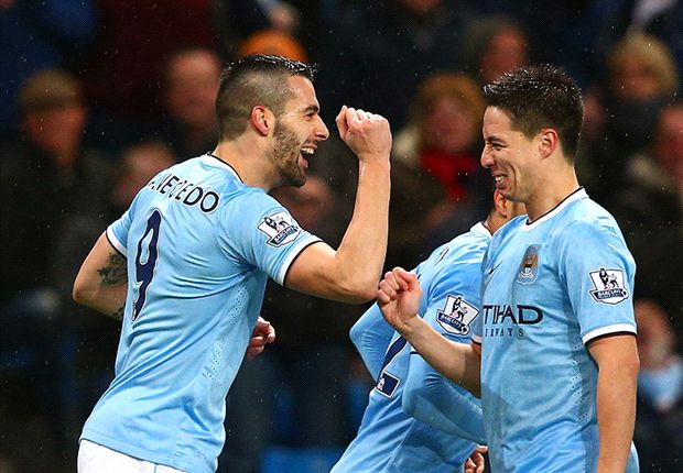 Manchester City 6-0 West Ham: Negredo nets hat-trick as hosts close in on Wembley