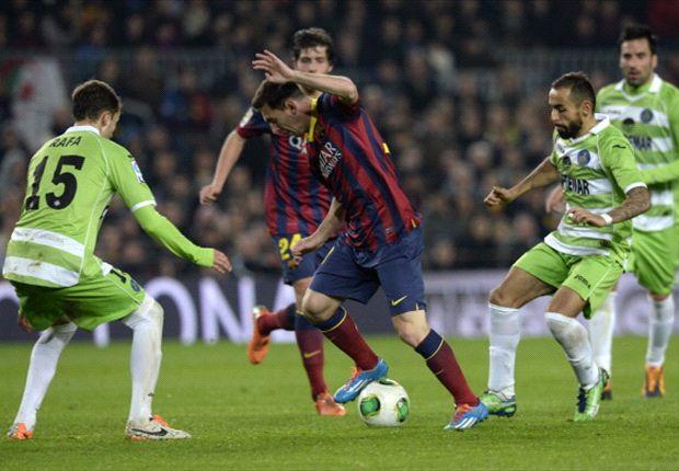 Lionel Messi Brilian, Barcelona Libas Getafe