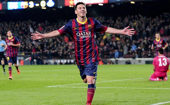 Lionel Messi Barcelona Getafe 08012014
