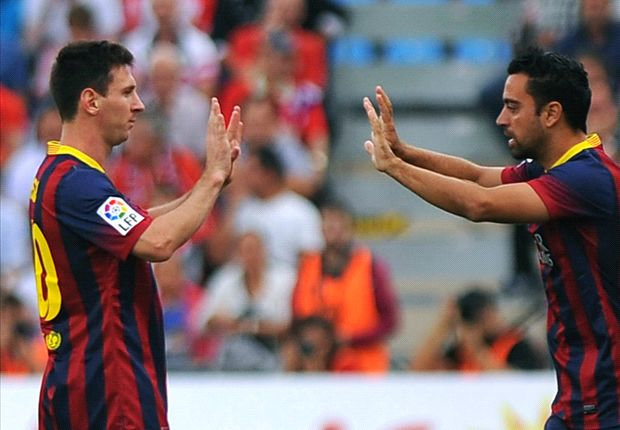 Lobte seinen Teamkollegen Lionel Messi: Xavi