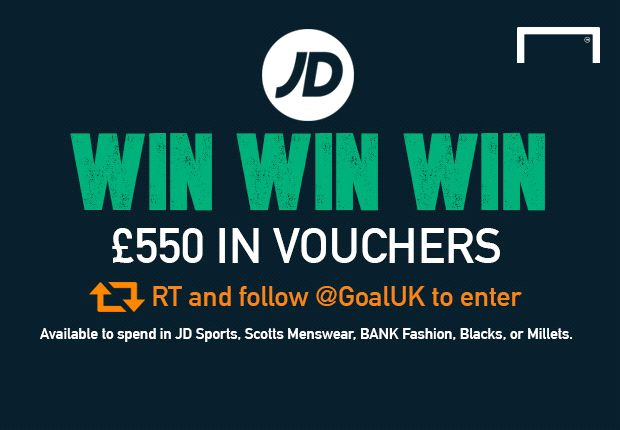 Win £550 of JD Sports vouchers with Goal