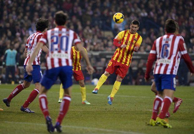 Messi entró en el segundo tiempo, pero no pudo romper el cero.