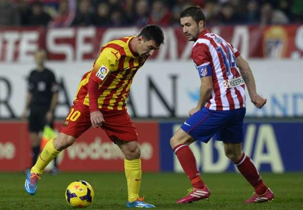 Messi blieb gegen Atletico eher blass und konnte keinen Treffer für Barca erzielen