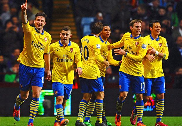 Aston Villa 1-2 Arsenal: Gunners survive late barrage to go top