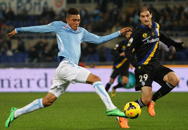 Lazio 2-1 Parma: Perea fires holders through to quarter-finals