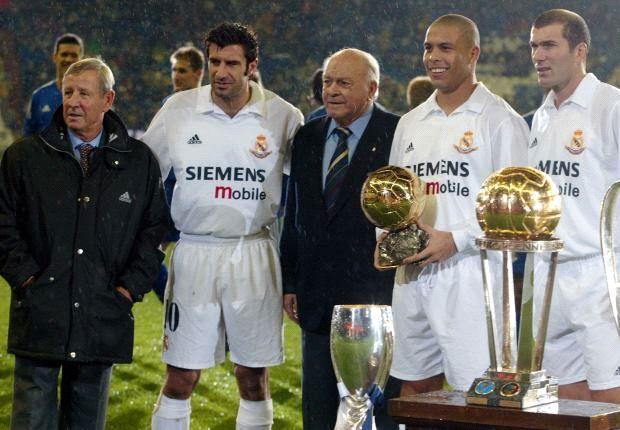 Luis Figo, Zinedine Zidane y Ronaldo, contra la pobreza
