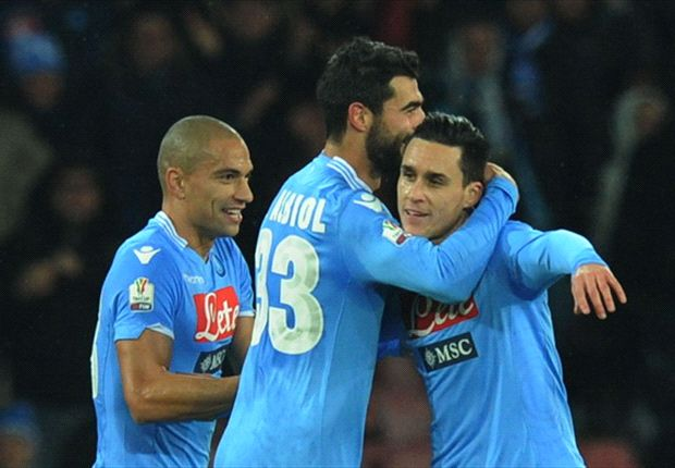 Napoli 3-1 Atalanta: Callejon double sends Partenopei through