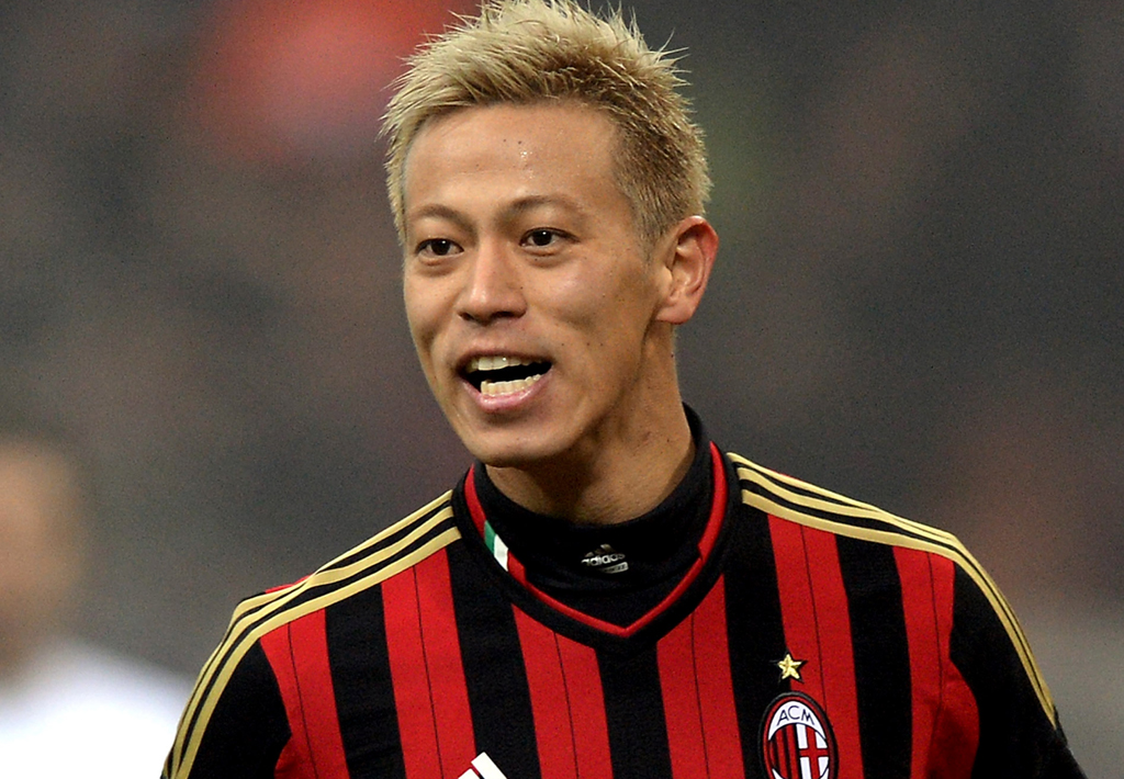 The 32-year old son of father (?) and mother(?), 183 cm tall Keisuke Honda in 2018 photo