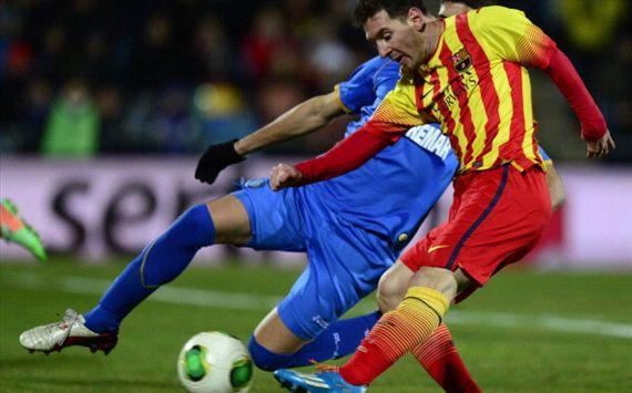 Lionel Messi Getafe Barcelona Copa del Rey 01162014