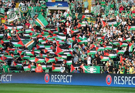 UEFA fine Celtic for Palestine flags