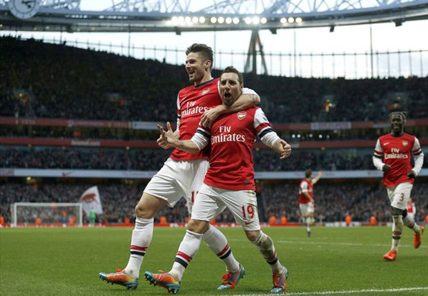 Arsenal 2-0 Fulham: Cazorla double keeps Gunners top