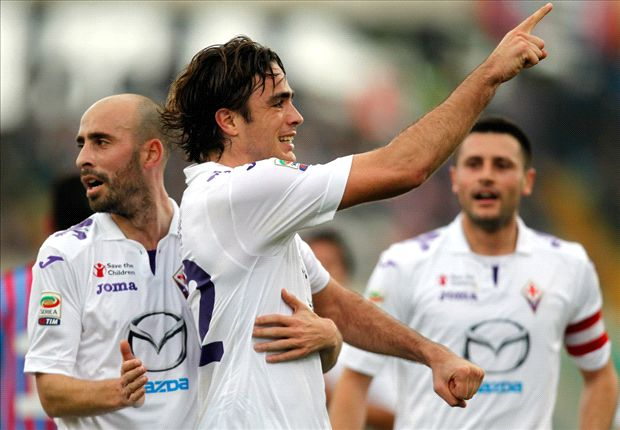 Matri joy at dream debut for Fiorentina against Catania