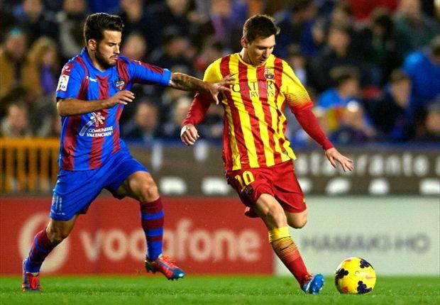 Messi se vio totalmente opacado por el Levante