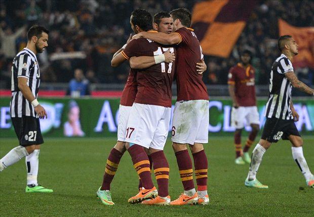 Die Roma bejubelt den Halbfinaleinzug