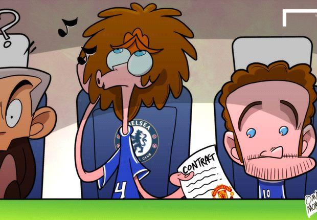 Mourinho, Mata y un intruso entre ellos