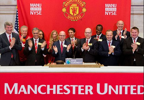 Man Utd shares drop to three-year low