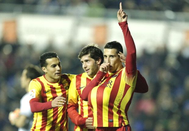 Levante 1-4 Barcelona: Tello hat-trick gives Catalans commanding lead