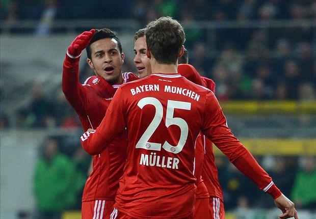 Gladbach 0-2 Bayern: Gotze & Muller see off stern hosts