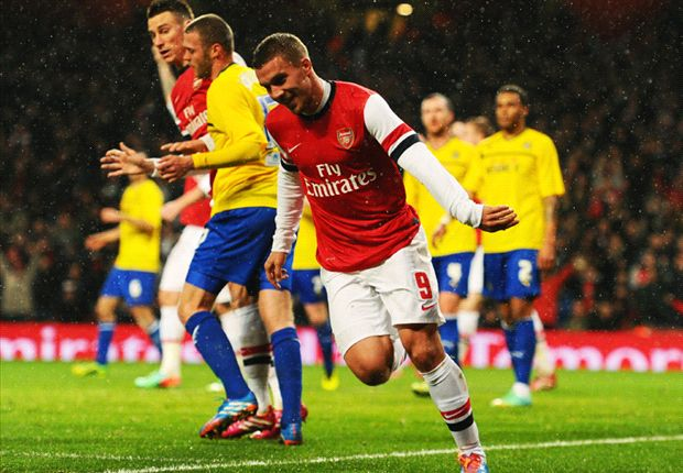 Arsenal 4-0 Coventry: Podolski hits double as Gunners cruise into FA Cup fifth round
