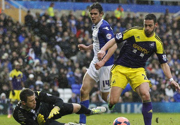 Birmingham City 1-2 Swansea City: Bony double completes Swans comeback