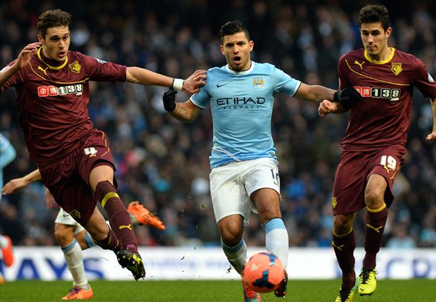 Manchester City 4-2 Watford: Hat-trick hero Aguero saves below-par Blues