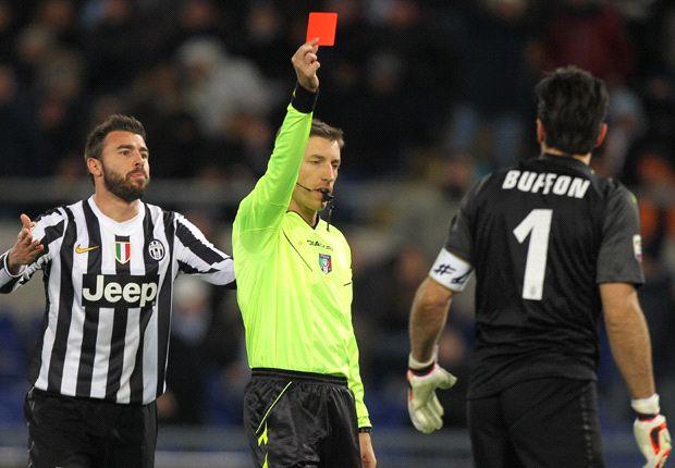 Conte to boycott press conferences over Buffon red card at Lazio