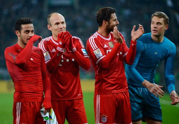 In der Liga ist der FC Bayern seit 42 Spielen ungeschlagen