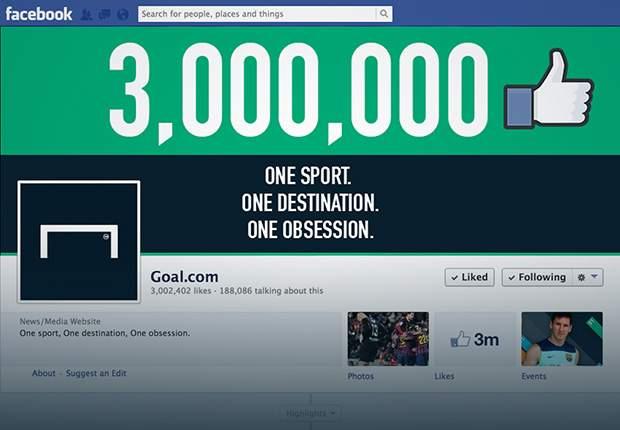 Goal International hits three million Facebook likes