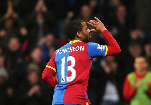 Crystal Palace 1-0- Hull City: Puncheon pounces again as McGregor sees red