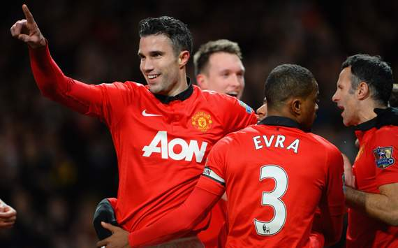 Robin van Persie  Manchester United Cardiff City Premier League 01282014