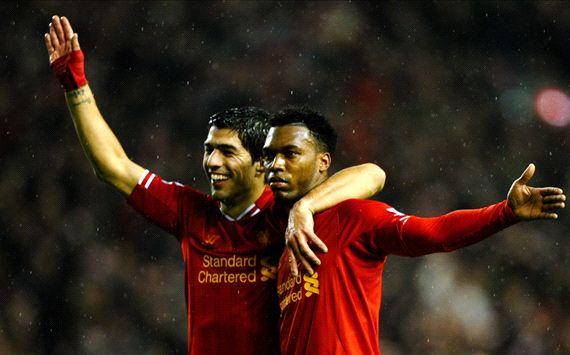 Daniel Sturridge Luis Suarez Liverpool Everton EPL 01282014
