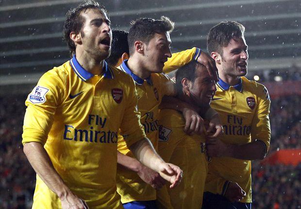 Southampton 2-2 Arsenal: Los Gunners ponen el liderato en jaque