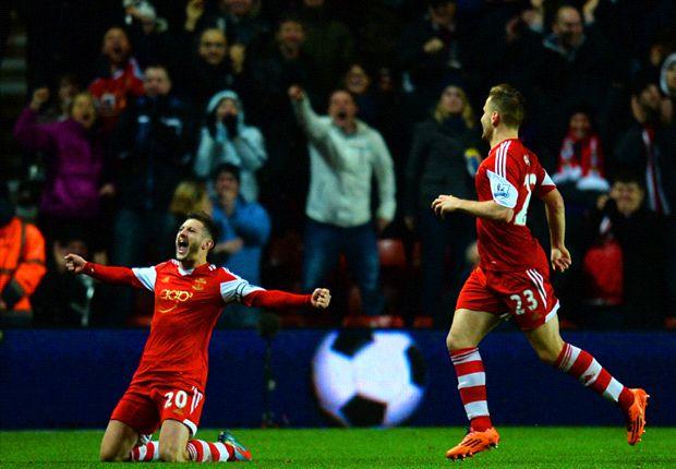 Southampton 2-2 Arsenal: Lallana leveller denies 10-man Gunners