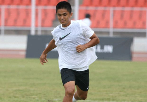 Sunil Chhetri in action during the Nike MUPC finals (Courtesy: Nike India)