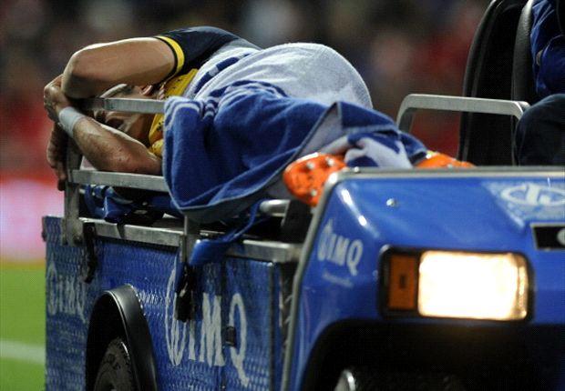 Filipe Luis se desgarró el aductor de la pierna derecha y estará seis semanas sin jugar.