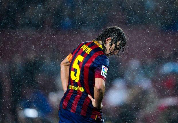 Puyol frente al Levante en Copa del Rey