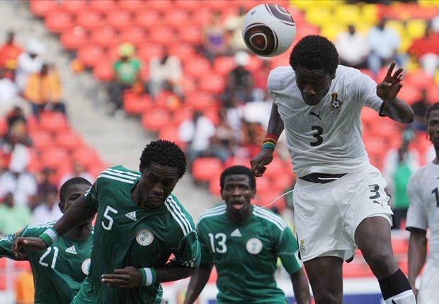 Gyan scores against Nigeria Afcon 2010