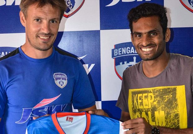 The India international completes his loan move to Bengaluru