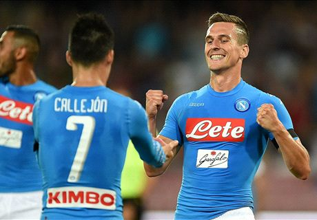 Milik double gives Napoli victory in Kiev