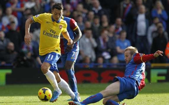 Arsenal's Mesut Ozil in action