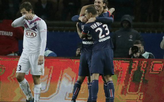 Zlatan Ibrahimovic Paris SG Bordeaux Ligue 01312014