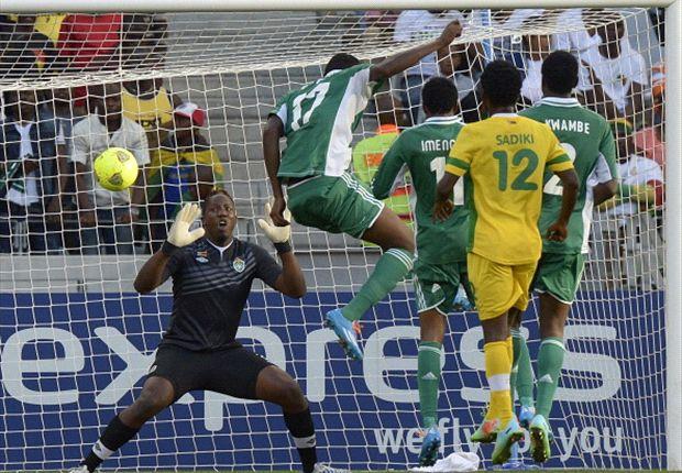 Zimbabwe goalkeeper George Chigova against Nigeria at Chan 2014