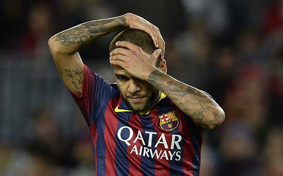 Dani Alves FC Barcelona vs RCD Espanyol Spanish league 11012013