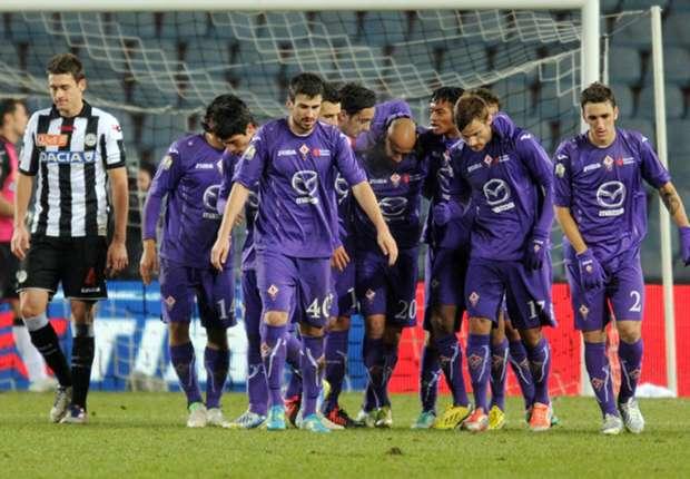 Die Fiorentina wird in Udine leicht favorisiert