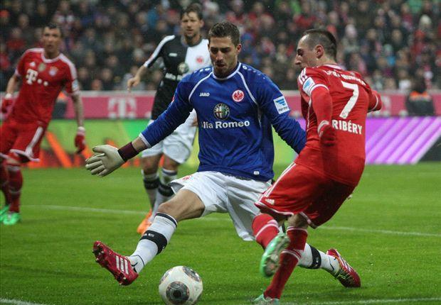 Franck Ribery und die Bayern waren einfach zu stark für die Frankfurter