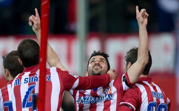 DAVID VILLA ATLETICO MADRID REAL SOCIEDAD LIGA BBVA 02022014