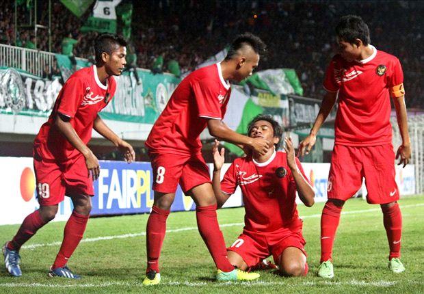 Para pemain timnas U-19 masih belum terkalahkan dalam rangkaian Tur Nusantara.