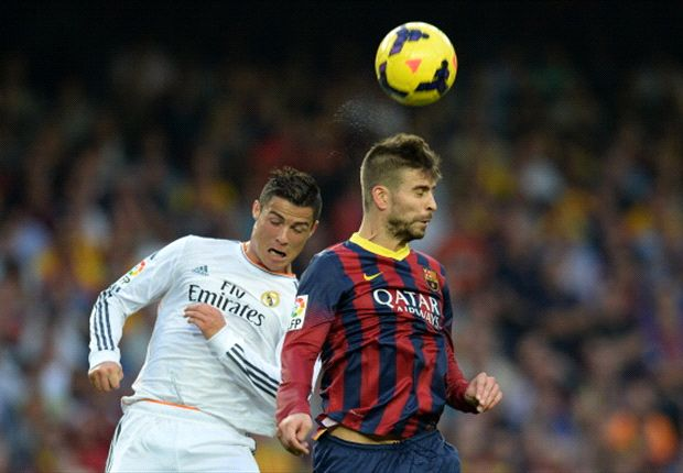 Pique and Christiano Ronaldo
