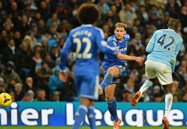 Manchester City 0-1 Chelsea: Ivanovic piledriver stuns hosts