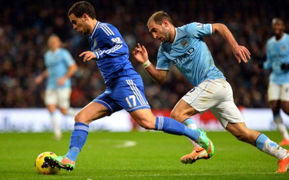 Eden Hazard, Manchester City vs Chelsea, EPL, 020314